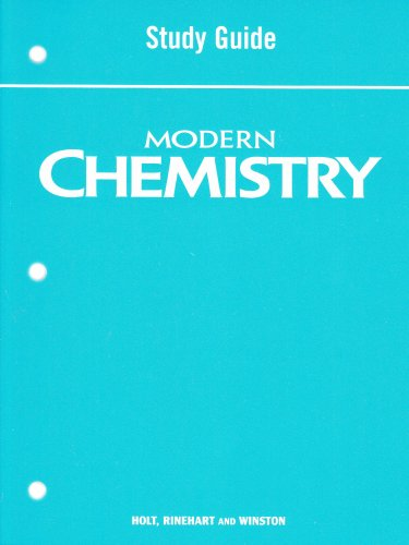 9780030367779: Holt Modern Chemistry: Study Guide Student Edition