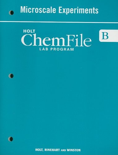 9780030367991: Holt Modern Chemistry: Workbook, Student Edition Microscale Experiments