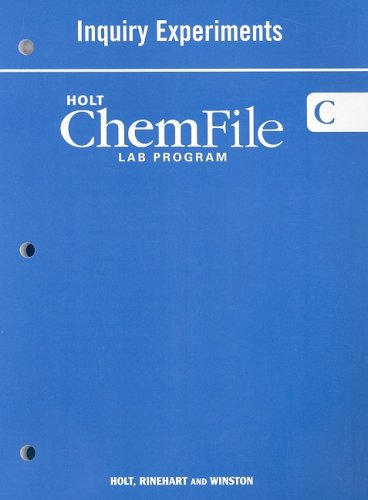 Holt Modern Chemistry: Workbook, Student Edition Inquiry: RINEHART AND WINSTON