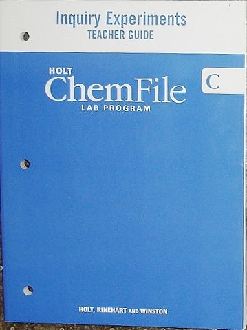 9780030368035: Holt ChemFile: Lab Program- Inquiry Experiments- Teacher Guide C