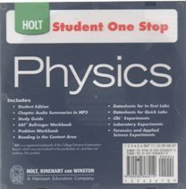 9780030368219: Holt Physics: Student One Stop CD-ROM 2009