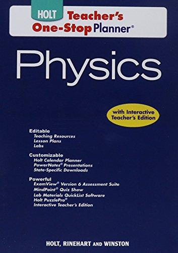 9780030368233: Holt Physics: Teacher's One-Stop Planner DVD-ROM