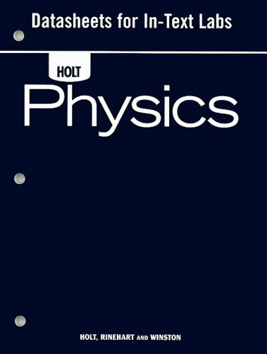 9780030368271: Holt Physics: Datasheets for In-Text Labs