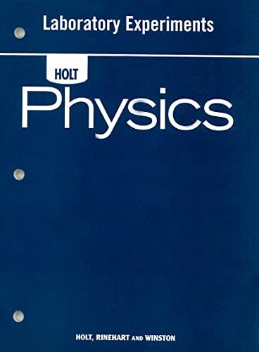 9780030368288: Holt Physics: Laboratory Experiments Student Edition