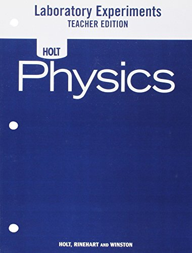 9780030368295: Holt Physics: Laboratory Experiments Teacher's Edition