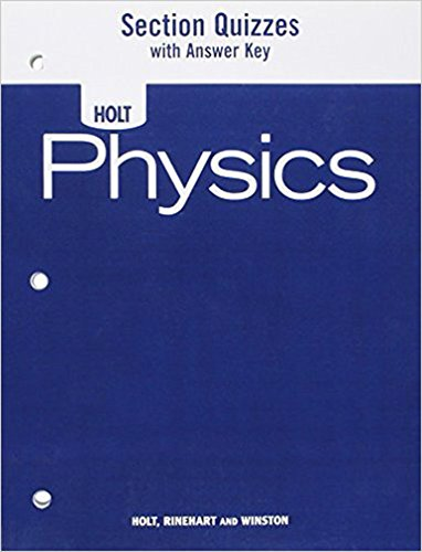 9780030368363: Physics : Section Quizzes with Answer Key