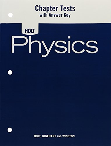 9780030368370: Physics: Chapter Tests with Answer Key