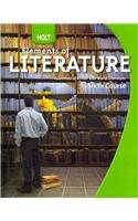 9780030368820: Elements of Literature; Essentials of British and World Literature, sixth course, 2009