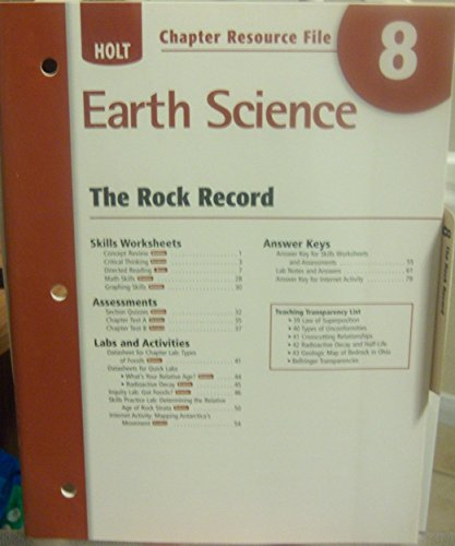 9780030368998: Chapter 8 Resource File: The Rock Record (Holt Earth Science)
