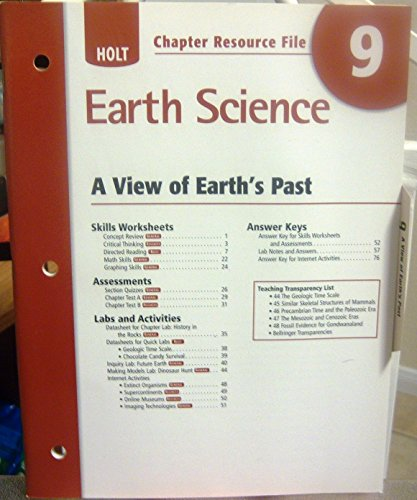 9780030369018: Holt Chapter Resource File, No. 9: Earth Science - A View of Earth's Past