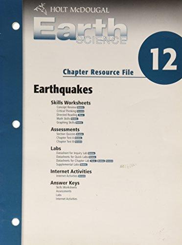 9780030369049: Cr #12 Earthquakes Earth Sci 2006