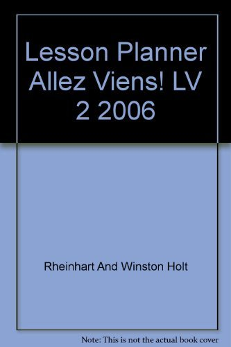 9780030369582: Allez, viens!: Lesson Planner with Differentiated Instruction Level 2