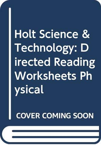 9780030369940: Holt Phusical Science Directed Reading Worksheets