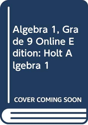 9780030370939: Holt Algebra 1: Premier Online Edition with CD-ROM 6 Year Algebra 1 2004