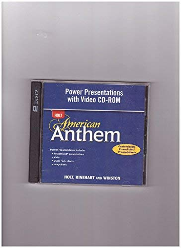 9780030373848: Power Presentations with Video CD-ROM, Full Survey (Holt American Anthem)