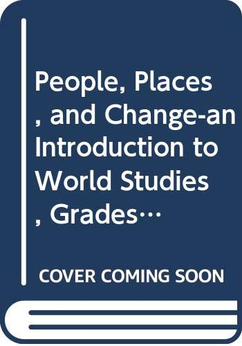 9780030373916: Holt People, Places, and Change: An Introduction to World Studies: Online Edition Plus Student Edition CD-ROM 6 Year Grades 6-8 2003