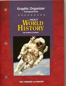 9780030374548: Holt World History: The Human Journey (Graphic Organizer Transparencies)