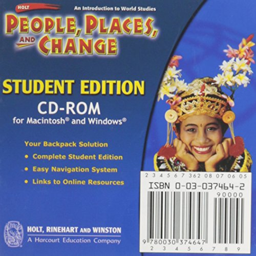 9780030374647: Holt People, Places, and Change: An Introduction to World Studies: Student Edition CD-ROM Grades 6-8 2005