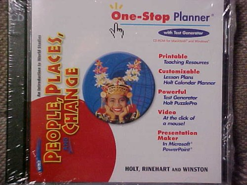 9780030374739: Holt, People, Places and Change One-Stop Planner (An Introduction to World Studies, With Test Generator)