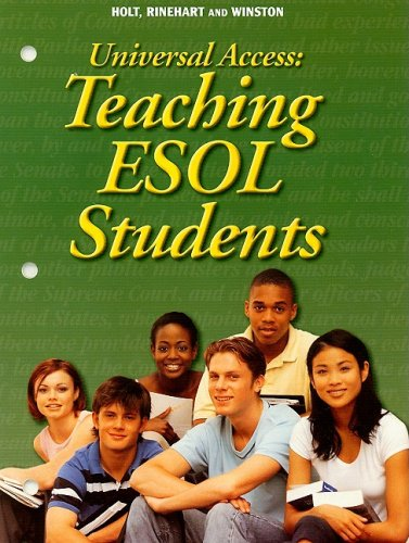9780030374760: Universal Access: Teaching ESOL Students