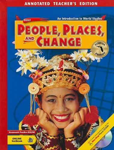 9780030374913: Florida Holt People, Places, and Change: An Introduction to World Studies
