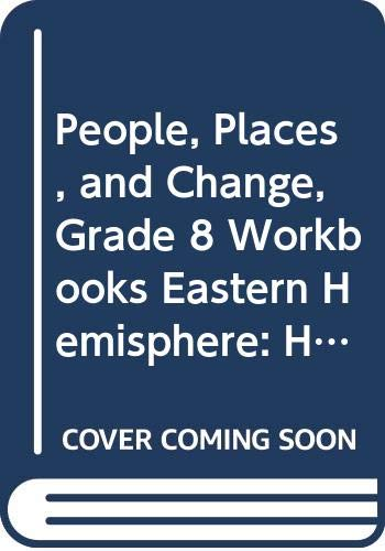 9780030376429: Holt People, Places, and Change: An Introduction to World Studies Florida: Workbooks Grade 8 Eastern Hemisphere