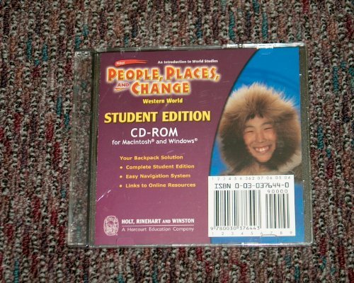 9780030376443: Holt People, Places, and Change: An Introduction to World Studies: Student Edition CD-ROM Grades 6-8 Western World 2005