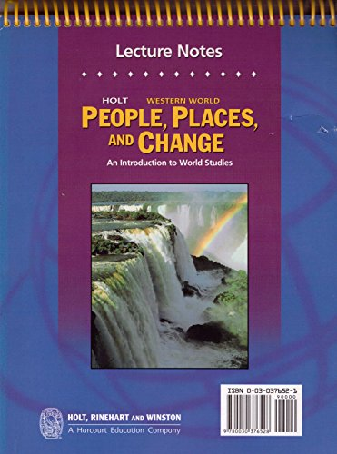 9780030376528: Holt People, Places, and Change: An Introduction to World Studies: Daily Lecture Notes Grades 6-8 Western World