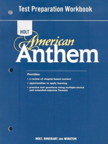 9780030377075: American Anthem: Test Preparation Workbook