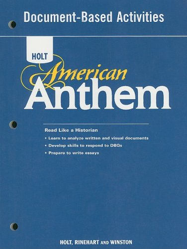 9780030377112: American Anthem: Document Base ACT