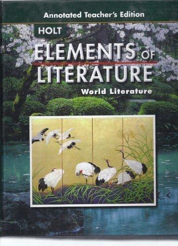 9780030377235: Elements of Literature: World Literature, Annotated Teacher's Edition