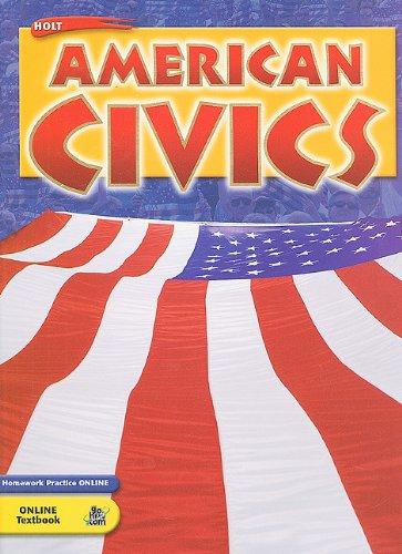 9780030377785: Holt American Civics: Student Edition 2005