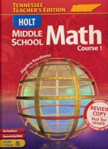 9780030379567: Holt Middle School Math, Course 1: Algebra Readiness