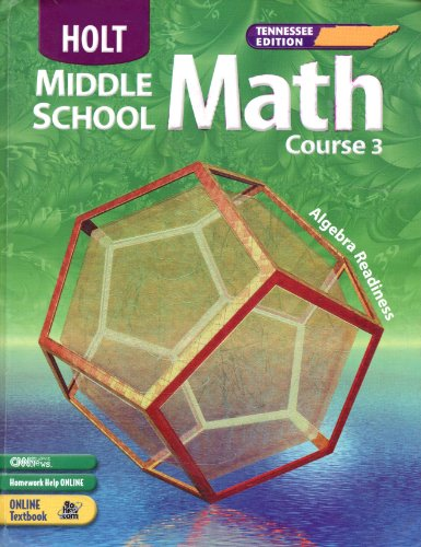 9780030379598: Holt Middle School Math Course 3 Tennessee Edition