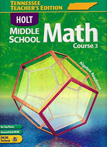 9780030379611: Holt Middle School Math: Course 3, Teacher's Edition