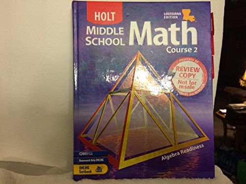 9780030379642: Holt Mathematics Louisiana: Student Edition Course 2 2004