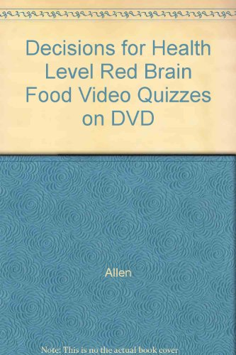 9780030380075: Decisions for Health Level Red Brain Food Video Quizzes on DVD