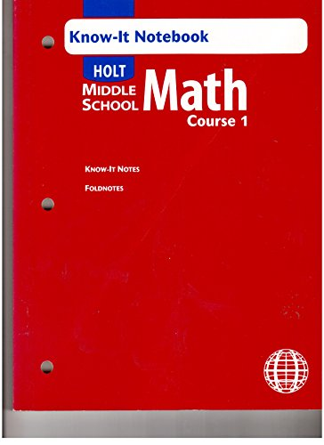 9780030380167: Holt Mathematics: Know It Notebooks Course 1