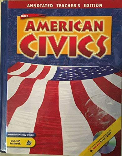 9780030380525: American Civics: Annotated Teacher's Edition