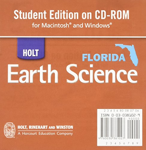 9780030381027: Holt Earth Science: Student Edition CD-ROM for Macintosh and Windows 2006