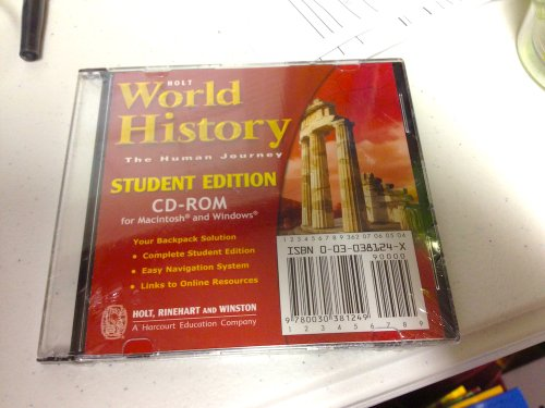 9780030381249: Holt World History: The Human Journey: Student Edition on CD-ROM