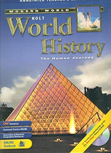 9780030381492: Holt World History, The Human Journey: The Modern World, Annotated Teacher's Edition
