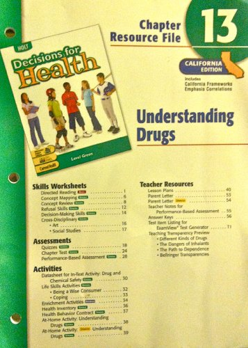 9780030382192: Decisions for Health, Chapter 13: Understanding Drugs- Chapter Resource File