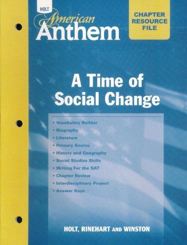 9780030382246: Crf W/ANS: Social Chng Am Anthem 2007