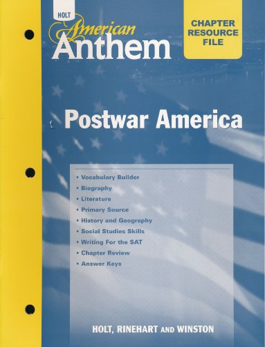 9780030382543: Crf W/ANS: Post War Amer Am Anthem 2007