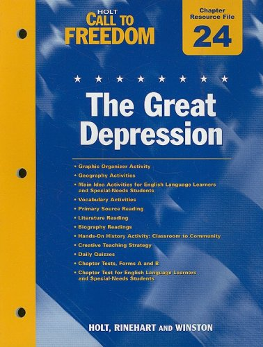 9780030383441: Holt Call to Freedom Chapter 24 Resource File: The Great Depression: With Answer Key