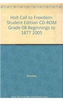 9780030383663: Student Edition on CD-ROM of Holt Call to Freedom: Beginnings to 1877