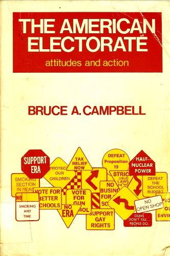 9780030384516: American Electorate: Attitudes and Action