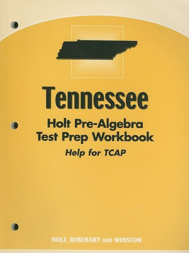 9780030385094: Holt Pre-Algebra Tennessee: Test Preparation Workbook