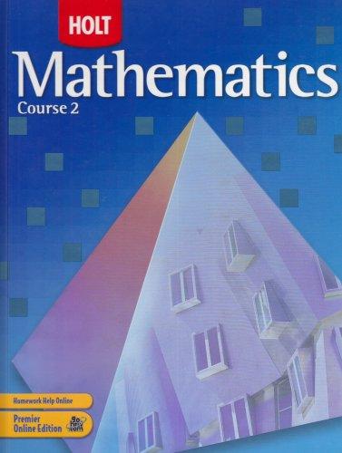 9780030385124: Holt Mathematics, Course 2, Grade 7